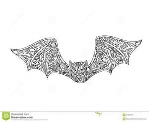 bat coloring page stock illustration image 57523971