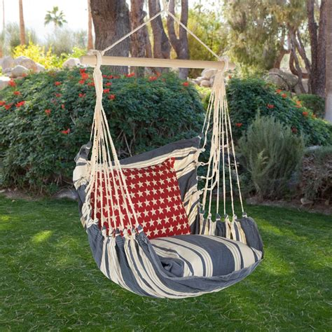 swings and hammocks magnolia casual americana hammock chair pillow set