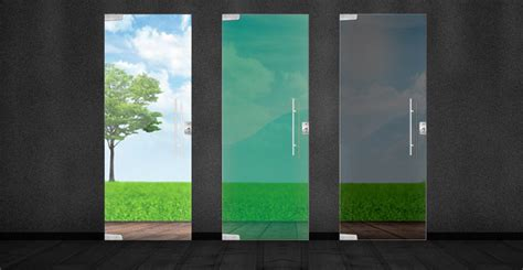 porta verde porta pivotante de vidro temperado verde 2 10x0 80
