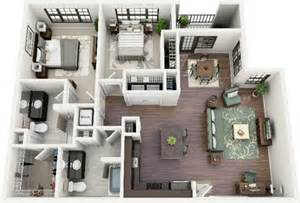 2 Bhk Home Design Ideas Two Bedroom House Plans By Crescent Ninth Street And