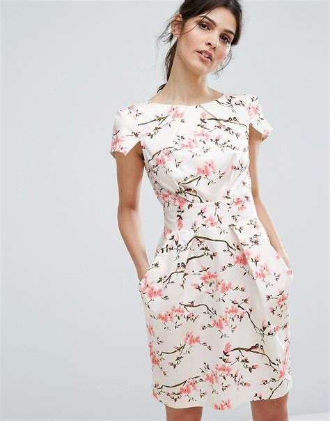 St Cherry Dress Cc closet cap sleeve mini dress in cherry blossom lyst