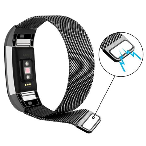 Milanese Stainless Steel Magnetic For Fitbit Charge 2 milanese stainless steel magnetic for fitbit charge 2 black jakartanotebook