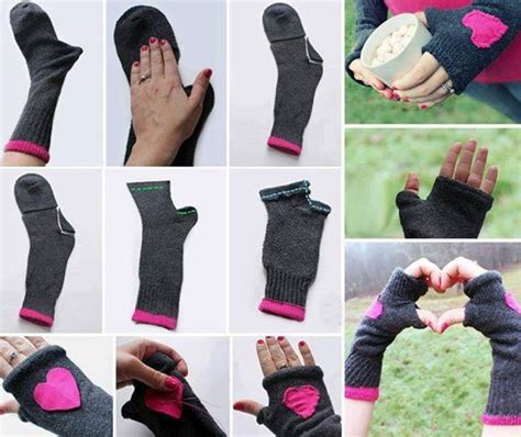 diy socks fingerless gloves made from socks diy alldaychic