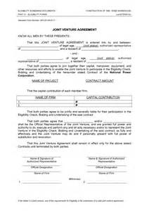 Joint Use Agreement Template Best Photos Of Template Of Joint Venture Agreement