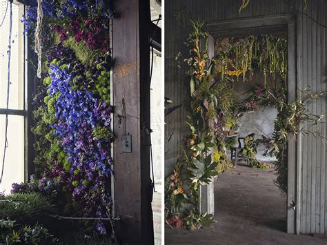home flower waud infills abandoned detroit house with thousands of flowers