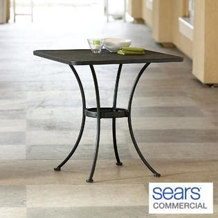 buy commercial picnic dining tables find square and round woodard commercial grade 28 quot square patio dining table sears