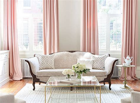 Curtain Decorating Ideas Inspiration Home Inspiration Decorating With Blush Pink Pink Curtains Living Room Sofa And Living Rooms