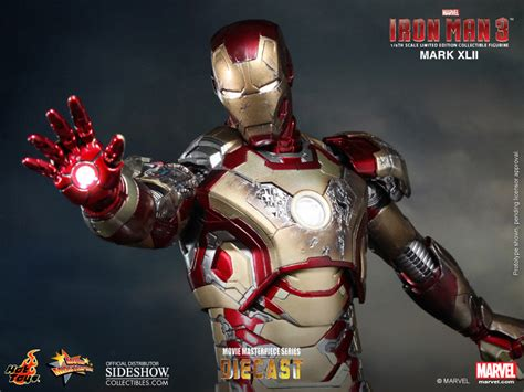 Toys Ironman Iii marvel iron xlii 42 sixth scale figure by sideshow collectibles