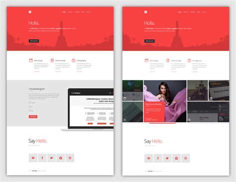 tutorial for web designing flat web design tutorial portfolio landing page idevie
