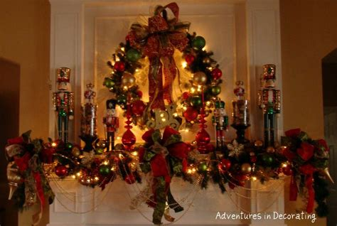 how to decorate a mantle with nutcrackers decoration nutcracker ideas decorating