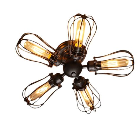 edison light ceiling fan 5 heads e27 edison industrial american country loft