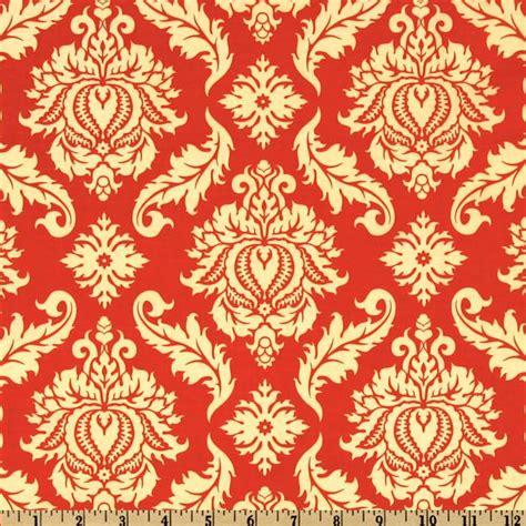 designer home decor fabric aviary 2 damask saffron discount designer fabric