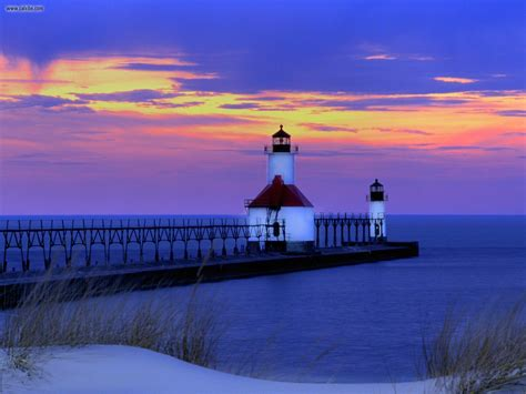 Joe Light by St Joseph Lighthouse Michigan Lighthouses