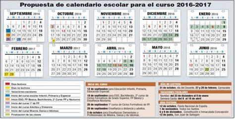 calendario curso 2016 2017 baleares dise 241 ado el calendario escolar 16 17 radio salamanca