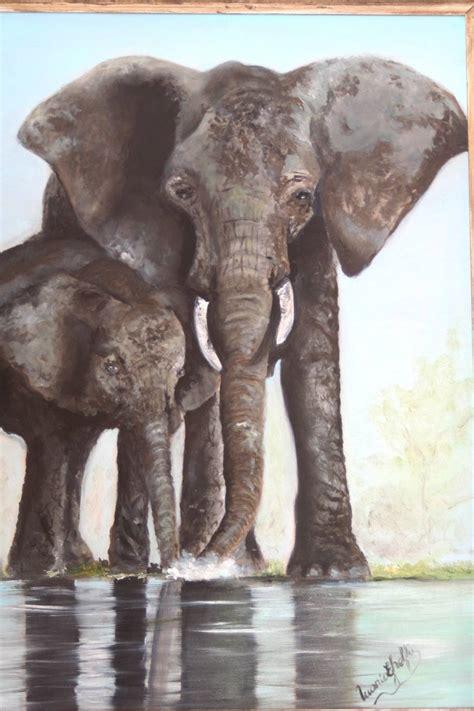 cuadros elefantes pinturas de elefantes imagui