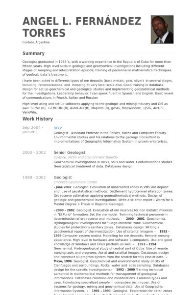 Resume Examples Computer Science by Ge 243 Logo Ejemplo De Curr 237 Culum Base De Datos De Visualcv