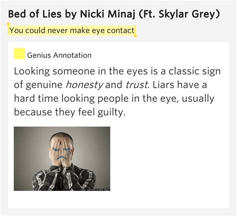 bed of lies lyrics you could never make eye contact bed of lies by nicki minaj