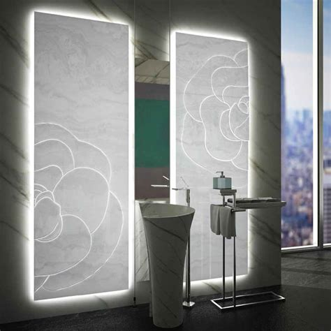 onyx bathroom panels mgm s elegant sculptured backlit white onyx panel and