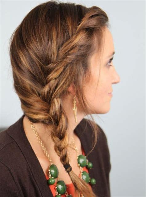 Side Twist Hairstyle by 20 Stylish Side Braid Hairstyles For Hair Side