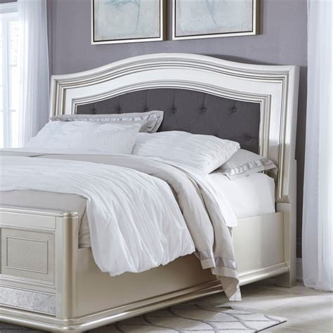 Silver Padded Headboard by Coralayne Upholstered Panel Headboard In