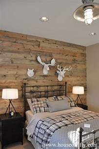 wood accent wall country bedroom house of fifty
