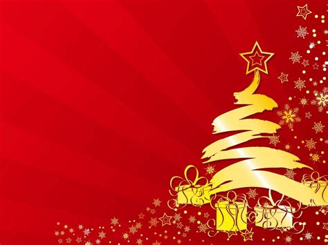 merry christmas yellow christmas tree stars gifts winter abstract red wallpaper hd
