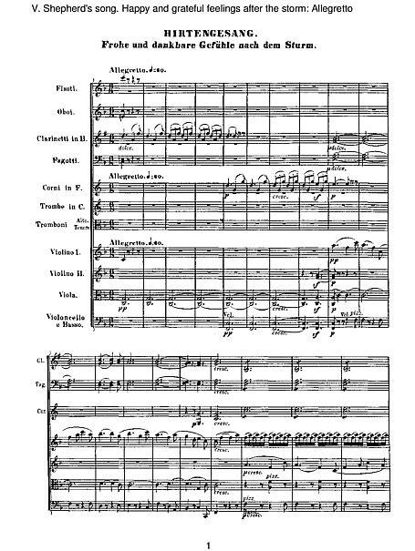 """Symphony No. 6 """"Pastoral"""" 5. Allegretto (full score"""
