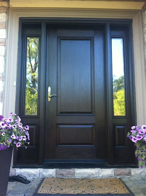front entry doors fiberglass doors wood grain door