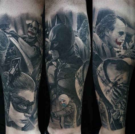 dark knight tattoo my calf sleeve done by chris adamek yelp