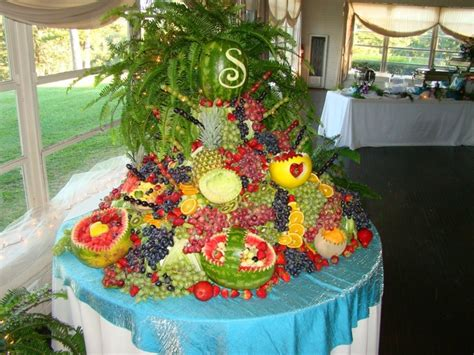 fruit table at a friend s wedding awesome my wedding