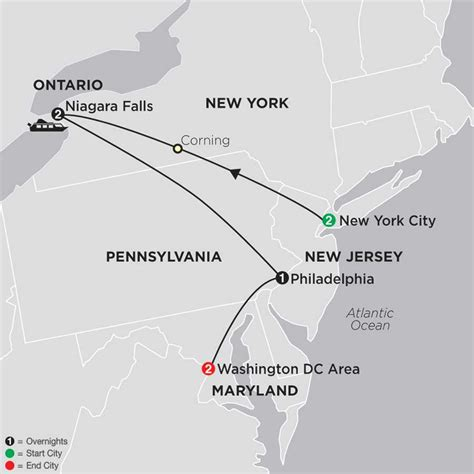 washington dc map new york cosmos affordable escorted tours vacations