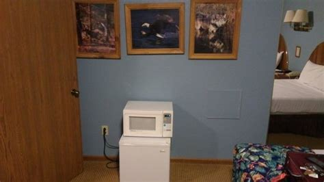second bedroom and microwave and fridge
