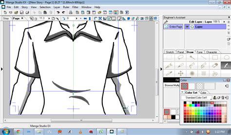 tutorial menggambar baju tutorial menggambar simple menggunakan manga studio ex4