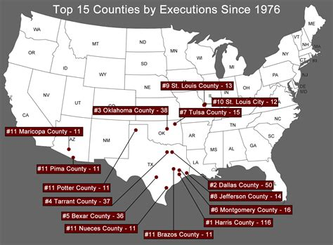 how many towns are in the us executions by county death penalty information center