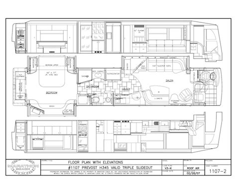 prevost floor plans 2008 prevost marathon h3 45triple slide