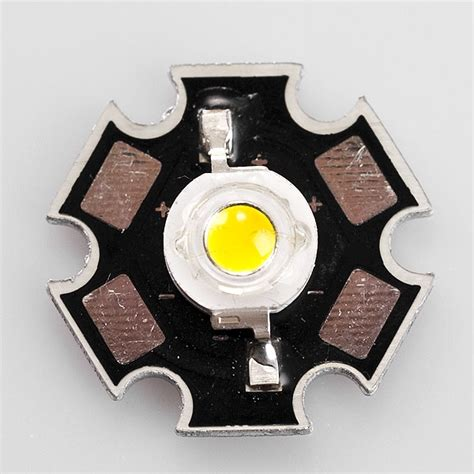 Led Hannochs 3w White vollong 3w white high power leds high powered leds and cob leds component leds
