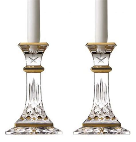 candlestick pattern gold waterford lismore gold 8 quot candlestick holders pair 163692