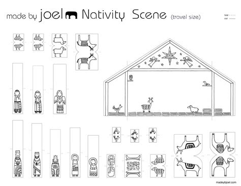 large printable nativity scene search results for nativity template printable large