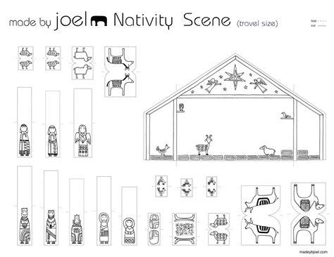 printable paper nativity made by joel 187 travel size paper city nativity scene