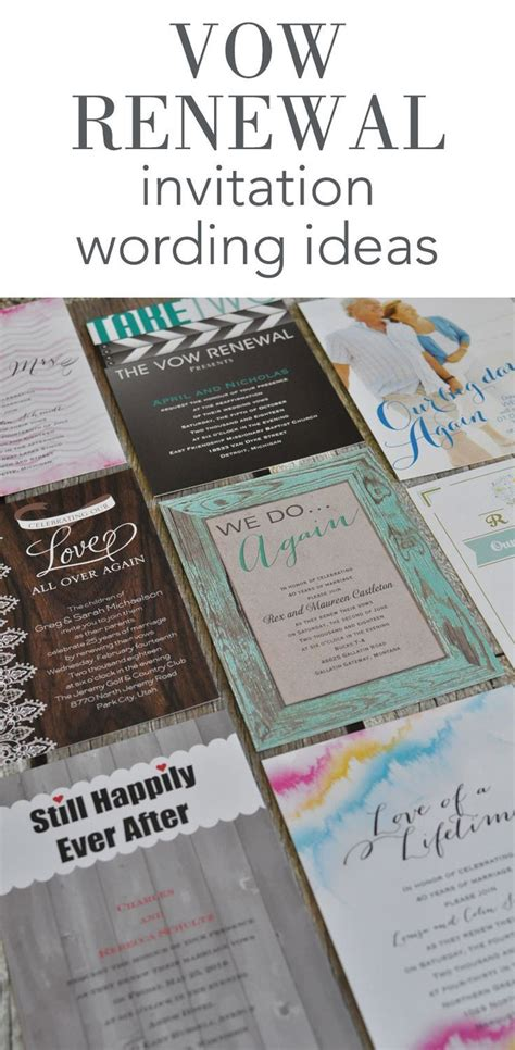 Vow Renewal Invitation Wording Ideas From Invitations By Dawn Wedding Invitations Pinterest Vow Renewal Invitations Templates
