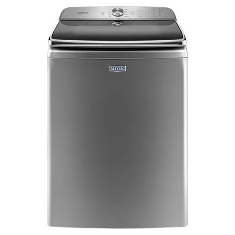 maytag 6 2 cu ft top load washer in metallic slate