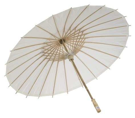 Paper Umbrella - 32 quot white paper parasol umbrellas on sale now