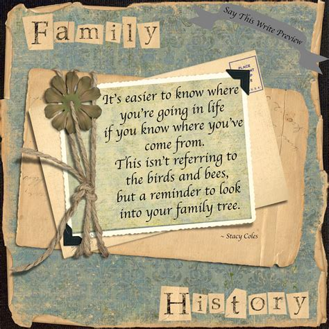 family history say this write thought boxes