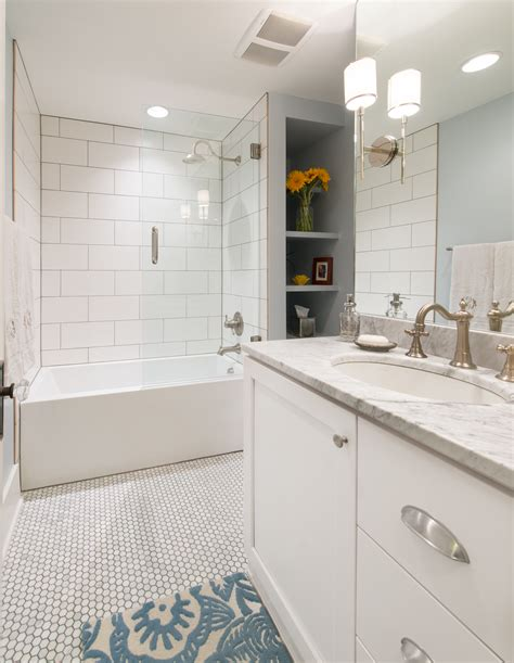 subway tile ideas for bathroom 6 tips to remodeling a busy bathroom by highcraft builders