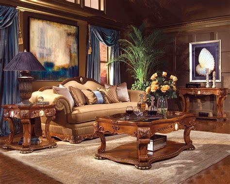aico furniture coffee table michael amini cortina occasional tables honey walnut