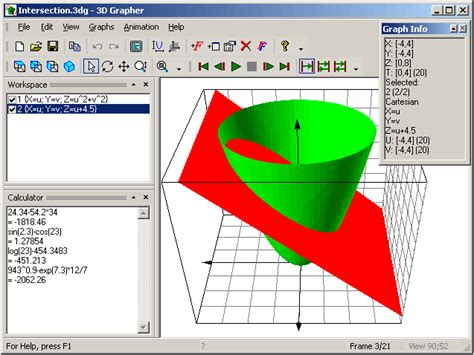 graphing software 3d grapher plots animated 2d and 3d graphs of equations