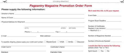 magazine subscription form template catering order form cake ideas and designs
