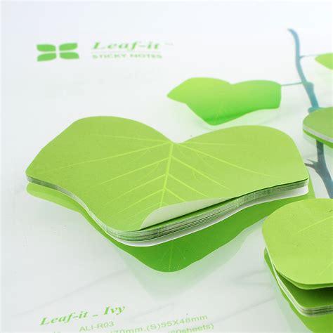 Leaf Sticky Note S simulation green leaf sticky note memo sticker post