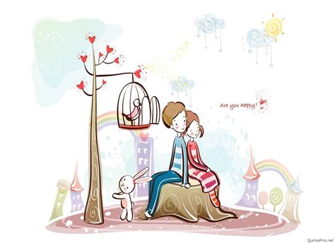 wallpaper cartoon love hd cute cartoon love couple drawings images pics