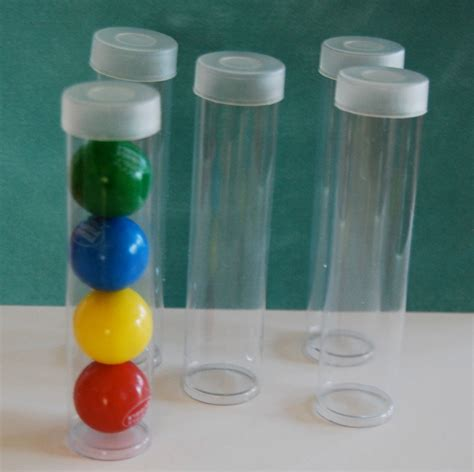 small tube small clear plastic tubes with caps qty 50 use for storage